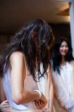 New York Fashion Week S/S 2013 Tess Giberson. Hair by Bb. Stylist James Pecis #fashionweek #hair #bumble #fashion