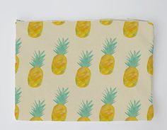 Pineapple Twill Clutch
