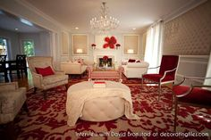 An Interview with David Bromstad: Red and white living room
