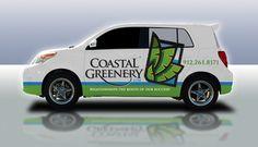 Partial car wrap - clean look, nice color combination. #signs
