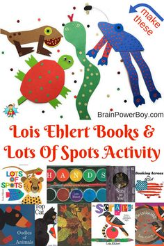 """Book list and an activity based on Lois Ehlert's """"Lots of Spots."""" Wonderfully creative art activity. Make your own spotted animal with this Lots of Spots craft."""