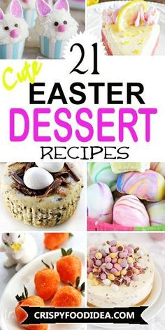 Desserts are loved by everyone after a meal. That is why if there is no dessert recipe for Easter, the day is wasted. Looking for cute easy ideas of Easter Dessert Recipes? Here are some recipe ideas that memorable for kids and for a crowd.  #easter #easterdesserts #dessertideas #easterrecipes #eastertreats #easterforkids #sidedish