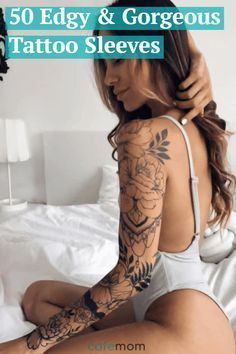VISIT FOR MORE Inspired to get a tattoo sleeve? Check out these 50 edgy but super gorgeous tattoo sleeves. The post Inspired to get a tattoo sleeve? Check out these 50 edgy but super gorgeous tat appeared first on tattoo. Feminine Tattoos, Trendy Tattoos, Small Tattoos, Tattoos For Guys, Cool Tattoos, Feminine Tattoo Sleeves, Mermaid Tattoos, Feather Tattoos, Flower Tattoos