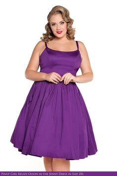Jenny Dress in Dark Purple -Plus Size