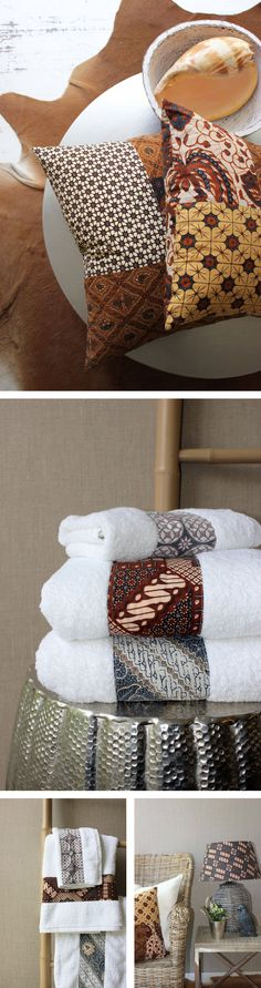 batik sections of fabric can be used on towels revamp cushions tea towels ! You name it!