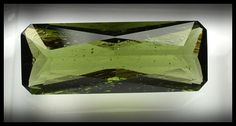Moldavite Faceted Gemstone 10.00 ct 25x9.5mm from InnerVision Crystals