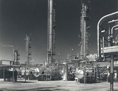Steelweld Pressure Vessels At The Standard Vacuum Refinery, Altona-Melbourne, Australia1955.  Photograph by Wolfgang Sievers.