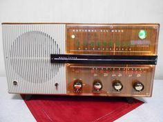 昭和の名機!! ナショナル 真空管ラジオ 新品マジックアイ付 UA-625 修理済_マジックアイは新品なのでまぶしい輝きです