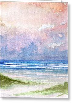 Seashore Sunset Greeting Card by Rosie Brown
