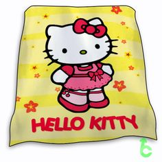 Hello Kitty Pink yello surface Blanket cheap and best quality. *100% money back guarantee
