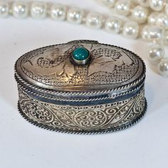 Antique Moroccan Jewelry Box Tiny Ring Jewelry by CozyTraditions