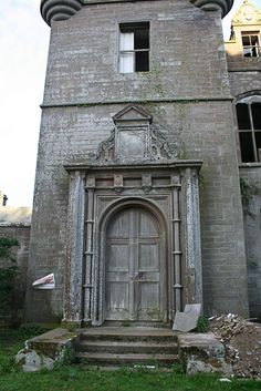 Aug 2009 - Derelict Places; Balintore Castle occupies an elevated site in moorland above Balintore village, a few miles north of the Loch of Lintrathen, near Kirriemuir, Angus, Scotland. A tower house named Balintor existed on the site in the late 16th century, according to Timothy Pont's maps. It was designed in 1859 by the architect William Burn. A typical example of the Scottish Baronial style, it features an abundance of turreted towers and gables, and an imitation portcullis.