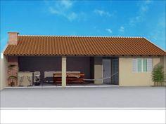 area de serviço com quarto e banheiro - Pesquisa Google Outside Fireplace, Barbecue Grill, Pool Houses, Exterior Design, Swimming Pools, Farmhouse, Backyard, House Design, Rustic