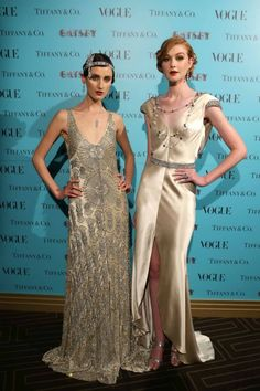 Models in Tiffany & Co. jewels at the The Great Gatsby dinner.