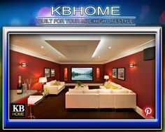 KBhomes Modern Home Theater #KBhomes
