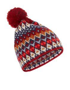 Catwalk Fairisle Beanie Hat | Multi | Accessorize