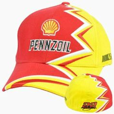 "Nascar Kurt Busch #22 Zig Zag Shell Pennzoil Mens Flex Fit One Size Fits All Hat by NASCAR. $13.99. Brand New Item with Tags. FlexFit. Official Licensed Product. Flex Fit. 100% Cotton. ""Pennzoil"" and Shell embroidered on front panel. Zig-Zag pattern along the left size of hat. "" Penske Racing"" embroidered on right side of hat. ""NASCAR"" embroidered on left side of hat. ""22 Kurt Busch"" signature embroidered on back panel. Flex fit, one size fits all. Officially Licensed NASC..."