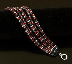 Dark Heart II The Bracelet by NEDbeads on Etsy