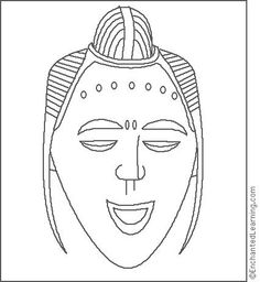 indian tribal masks coloring pages - photo#21
