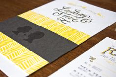 Hand Lettered Wedding Invitations by Molly Jacques via Oh So Beautiful Paper (2)