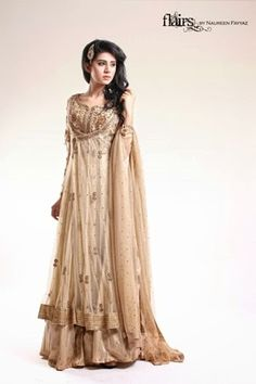 Flairs by Naureen Fayyaz Formal Party Wear Suits 2015-16 ~ She-Styles | Fashion Blog