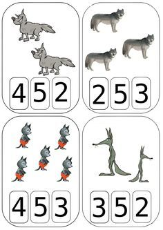 Cartes à compter Loups - Maitresse Myriam Montessori Math, Preschool Activities, Teaching Tools, Teaching Math, Primary Maths, Primary Education, Printable Numbers, Math Humor, Math Numbers