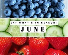 Eat What's In Season: June #justapinchrecipes