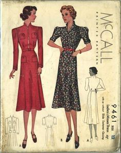 Share Your Best Sewing Patterns, Tips, Techniques and Ideas. Have you ever spoke with a person about sewing and encountered a term that you really did not understand? Vintage Dress Patterns, Clothing Patterns, Vintage Dresses, 1930s Fashion, Retro Fashion, Vintage Fashion, Classic Fashion, Retro Outfits, Vintage Outfits