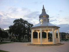 Moving to small town Boerne, Texas has its benefits... like a cute gazebo in the main square