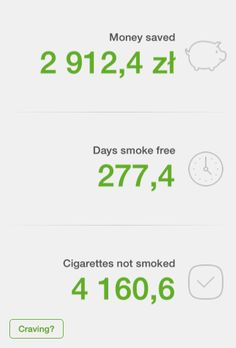 Check out how much money I've saved since I quit smoking (www.smokefreeapp.com)