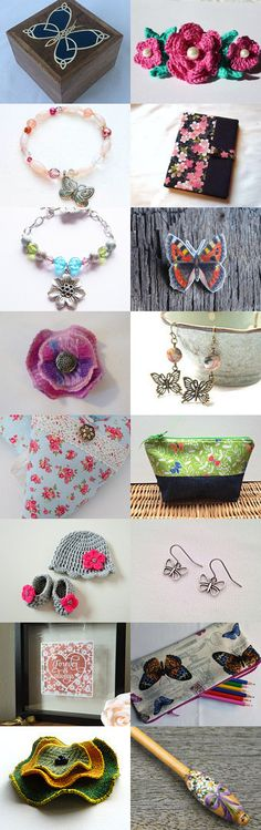 Butterflies and flowers @IHeartScotland Team by Karen Salveta on Etsy--Pinned+with+TreasuryPin.com