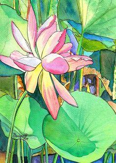 Lotus Flower 5x7 print from Kauai Hawaii by kauaiartist on Etsy, $12.00
