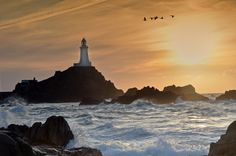 To the Lighthouse - La Corbiere lighthouse in Jersey.