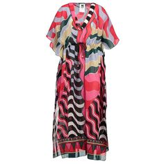 M MISSONI Kleid mit All-Over Musterprint ► Das fließend geschnittene Kleid von M MISSONI ist aus reiner Baumwolle gefertigt. Mit All-Over Musterprint und Zugband an Taille ein überaus modischer Begleiter, der kommenden Sommer garantiert für Hingucker sorgen wird.