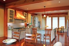 1000 images about post and beam design on pinterest for Post and beam kitchen ideas