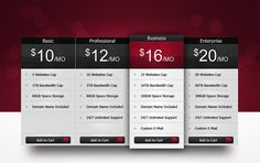 37 Free Pricing Table PSD Templates - Smashfreakz