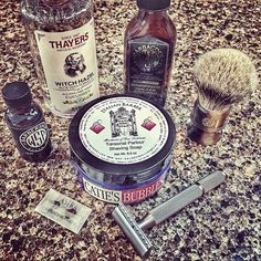 """#Repost @thomas_shaves  SOTD: 4/4/2016  Catie's Bubbles / Italian Barber Tonsorial Parlour Shaving Soap  Wet Shaving Products Barbacool Aftershave  Wet Shaving Products High Mountain White """"Stubby"""" Brush  Wet Shaving Products Barbershop Pre Shave Oil  Above The Tie Colossus Slant Razor  Thayers Cucumber Witch Hazel  Astra Superior Platinum Blade  @catiesbubbles @abovethetie @wetshavingproducts @thayersnatural  #astrablades #shavelikeaman #shavelikeaboss #shavelikeagentleman…"""