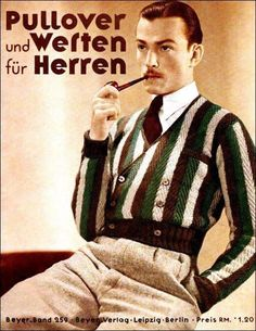 Knitwear men, Vintage mens fashion, Vintage fashion Mens fashion inspiration, Mens fashion illustration, knitwear - The Aristocratic Nose and the Vulgar Heart - Vintage Fashion 1950s, 1930s Fashion, Vintage Men, Mens Fashion, Vintage Hats, Victorian Fashion, Vintage Style, Mode Masculine, German Outfit