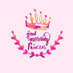 cestlaviv_Good Morning Princess  fabric by cest_la_viv on Spoonflower - custom fabric