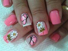 Fancy Nails, Diy Nails, Cute Nails, Pretty Nails, Nail Polish Designs, Nail Art Designs, Nails Design, Spring Nails, Summer Nails