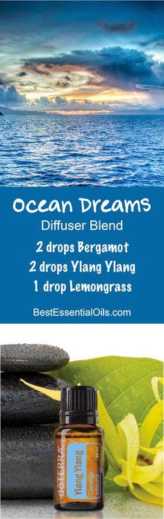 Ocean Dreams doTERRA Diffuser Blend - Ylang Ylang, Lemongrass & Bergamot