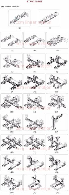 design machines guide rails motion structures