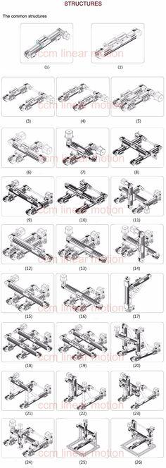 design machines guide rails motion structures