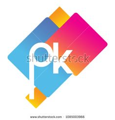Letter PK logo with colorful geometric shape, letter combination logo design for creative industry, web, business and company. Interior Design Business, Initials Logo, Creative Industries, Geometric Shapes, Royalty Free Stock Photos, Logo Design, Diagram, Behance, Lettering