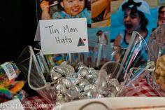 Tinman hats at a Wizard of Oz party #wizardofoz #party