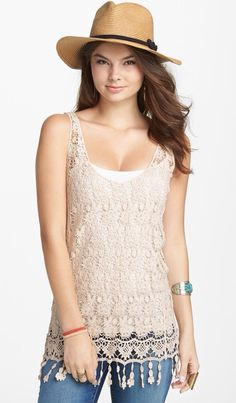 Mina Chica crochet top at nordstrom