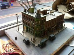Model train HO scale building, Capelli's on 2nd and Market in philadelphia