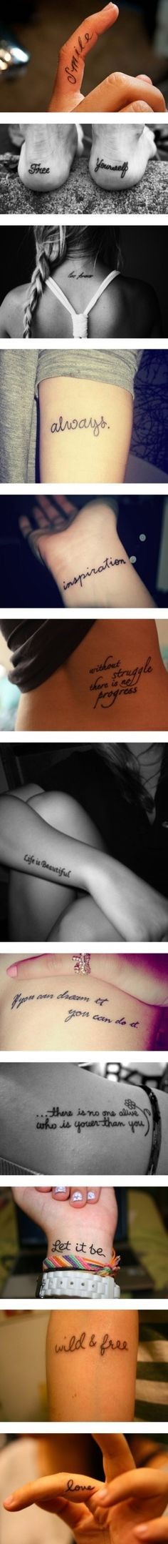 Tattoos aren't just a pretty thing that's permanent... It's a way for people to express themselves!
