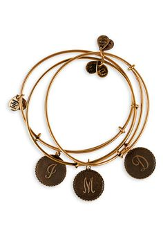 Script Initial Expandable Wire Bangle $24