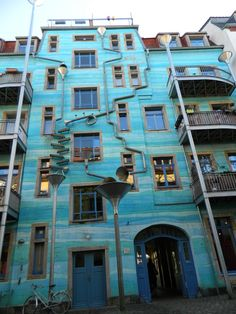[Building] House singing in the rain Dresden : architecture